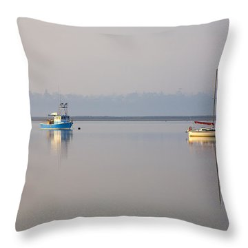 Peace At Anchor Throw Pillow by Mike  Dawson