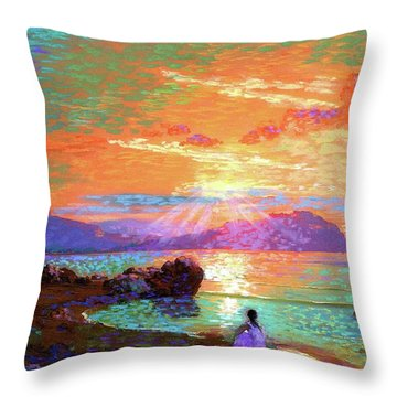 Peace Be Still Meditation Throw Pillow