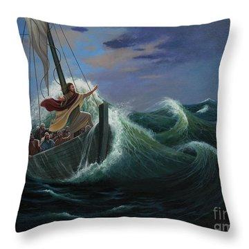 Peace Be Still Throw Pillow by Michael Nowak