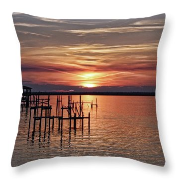 Peace Be With You Sunset Throw Pillow