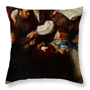 Peace Concluded Throw Pillow by Sir John Everett Millais