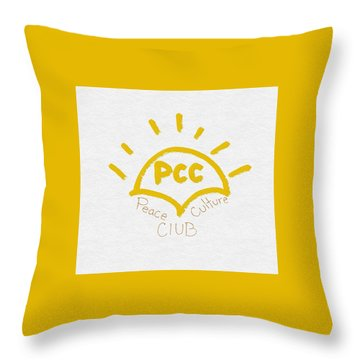 Peace Culture Club Logo Throw Pillow by Joshua Stepney