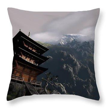 Throw Pillow featuring the sculpture Peace by Dave Luebbert