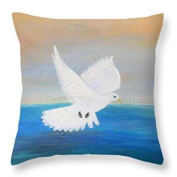 Peace Descending Throw Pillow