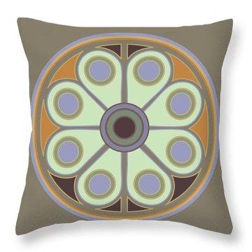 Peace Flower Circle Throw Pillow