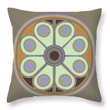 Peace Flower Circle Throw Pillow