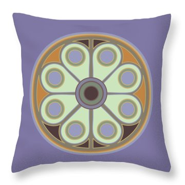 Peace Flower Throw Pillow