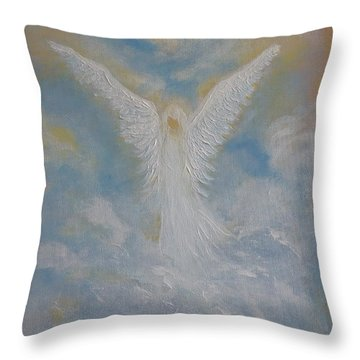Peace From An Angel  Throw Pillow