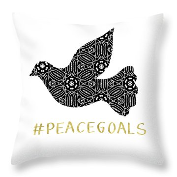 Peace Goals- Art By Linda Woods Throw Pillow by Linda Woods