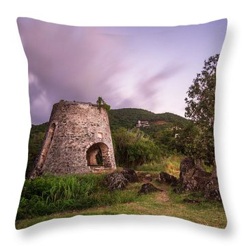 Throw Pillow featuring the photograph Peace Hill Ruins by Adam Romanowicz