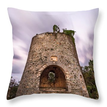 Throw Pillow featuring the photograph Peace Hill Sugar Mill by Adam Romanowicz