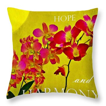Throw Pillow featuring the photograph Peace Hope And Harmony by Patricia Strand