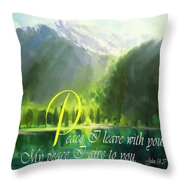 Peace I Give You Throw Pillow