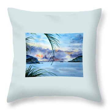 Peace In The Caribbean Throw Pillow