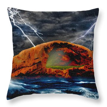 Peace In The Cleft In The Midst Of The Storm Throw Pillow