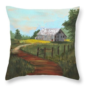 Throw Pillow featuring the painting Peace In The Valley by Sharon Mick