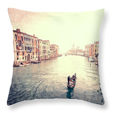Peace In Venice Throw Pillow