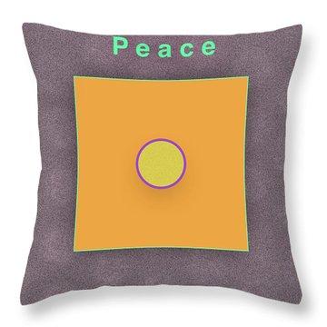 Peace Throw Pillow by Jack Eadon