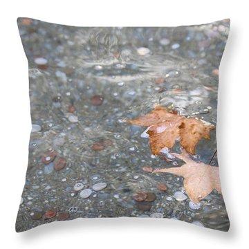 Peace Throw Pillow by Lauri Novak