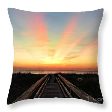 Throw Pillow featuring the photograph Peace  by LeeAnn Kendall