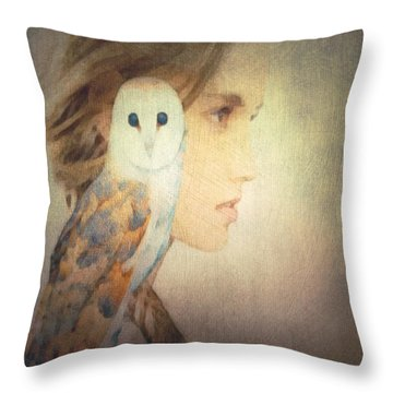 Throw Pillow featuring the digital art Peace by Lisa Noneman