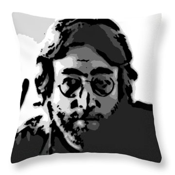 Peace Man Throw Pillow by George Pedro