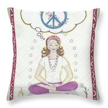 Peace Meditation Throw Pillow