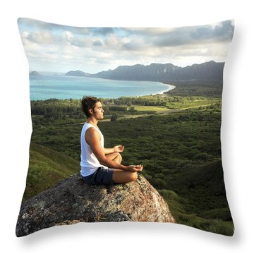 Peace On A Hillside Throw Pillow by Brandon Tabiolo - Printscapes