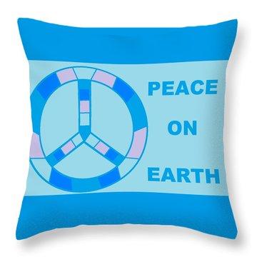 Peace On Earth 3 Throw Pillow