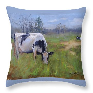Peace On Earth Four Throw Pillow by Laura Lee Zanghetti