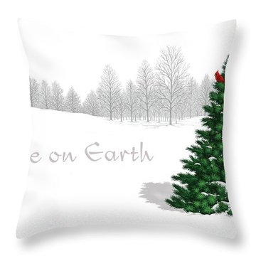 Throw Pillow featuring the digital art Peace On Earth by Scott Ross