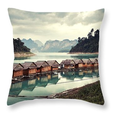 Peace On The Lake Throw Pillow