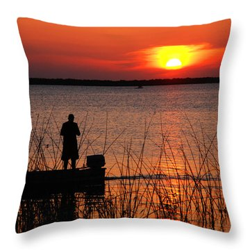 Peace Over The Water Throw Pillow