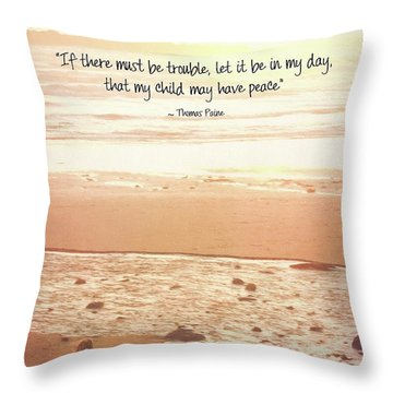 Throw Pillow featuring the photograph Peace by Peggy Hughes