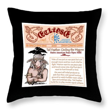 Real Fake News Circling The Wagons 2 Throw Pillow by Dawn Sperry