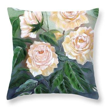 Peace Rose Throw Pillow