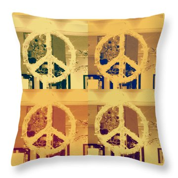 Peace Throw Pillow by Sherry Dee Flaker