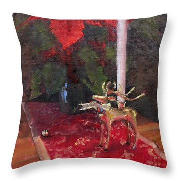 Peace To All Throw Pillow by Laura Lee Zanghetti