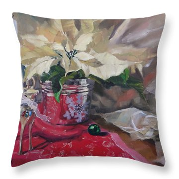 Peace To All Three Throw Pillow by Laura Lee Zanghetti