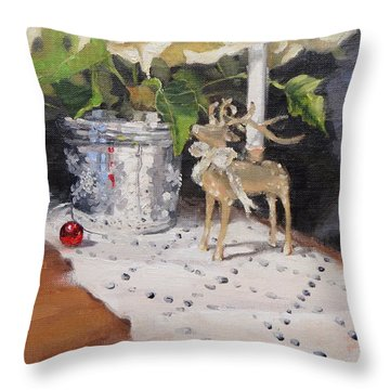 Peace To All Two Throw Pillow by Laura Lee Zanghetti