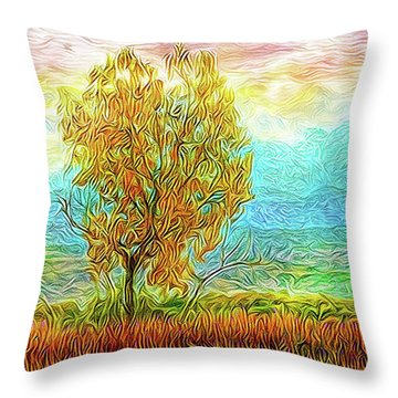 Peace Tree Sunset Throw Pillow