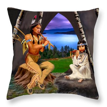 Peace With Harmony Throw Pillow