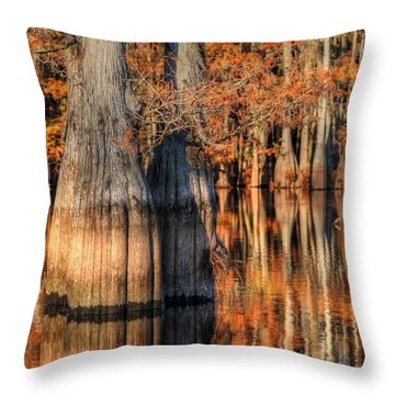 Peaceful Autumn Afternoon Throw Pillow by Ester  Rogers