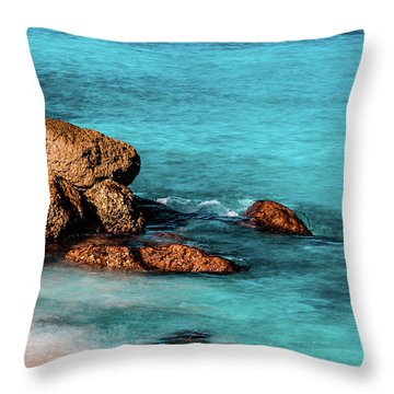 Peaceful Beach Throw Pillow