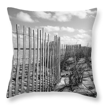 Peaceful Beach Scene Throw Pillow by Denise Pohl