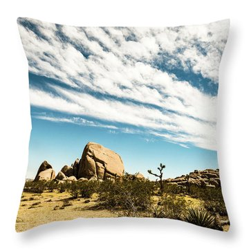 Peaceful Boulder Throw Pillow