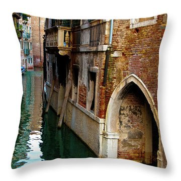 Throw Pillow featuring the photograph Peaceful Canal by Harry Spitz