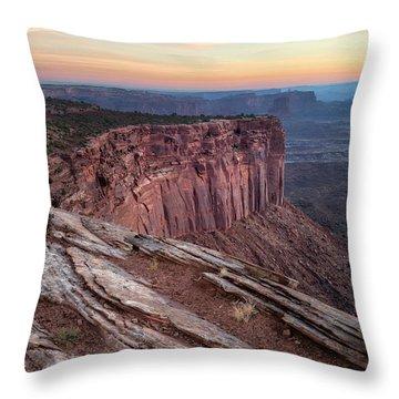 Peaceful Canyon Morning Throw Pillow