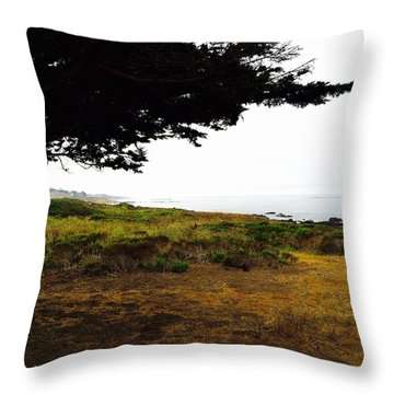 Peaceful Coast Throw Pillow by Russell Keating