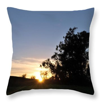 Throw Pillow featuring the photograph Peaceful Country Sunset  by Matt Harang